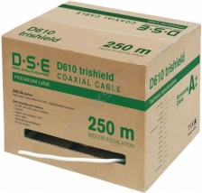 Kabel Trishield 250m Piła,Wro DSE D610