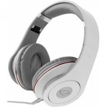 Słuchawki z regulacją siły głosu białe długość przewodu 5 m RENNELL